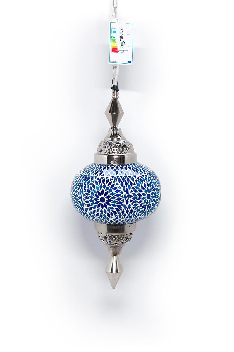 Oosterse lamp Gaya blauw uit