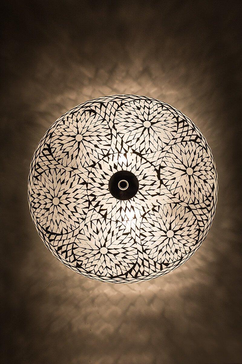 Plafondlamp moza ek wit koop je bij sfeerverlichting online for Plafondverlichting