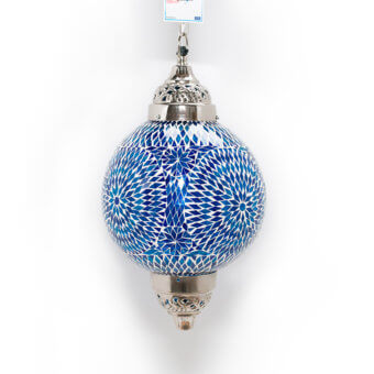 Oosterse hanglamp blauw Mumbai