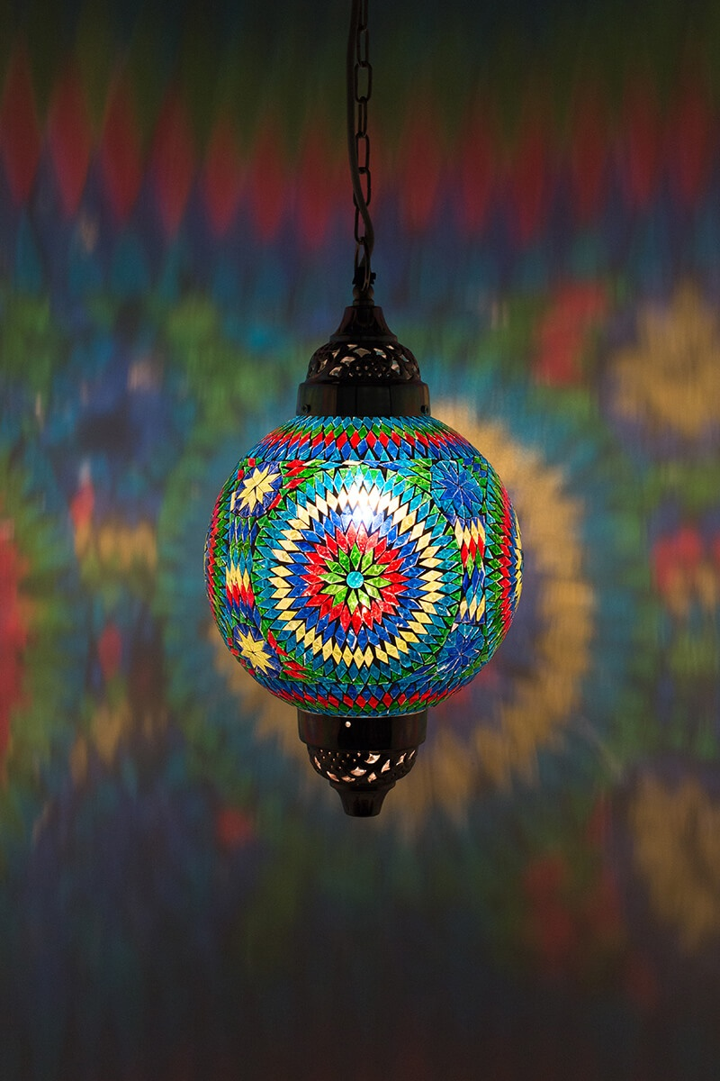 Oosterse hanglamp multicolour Mumbai