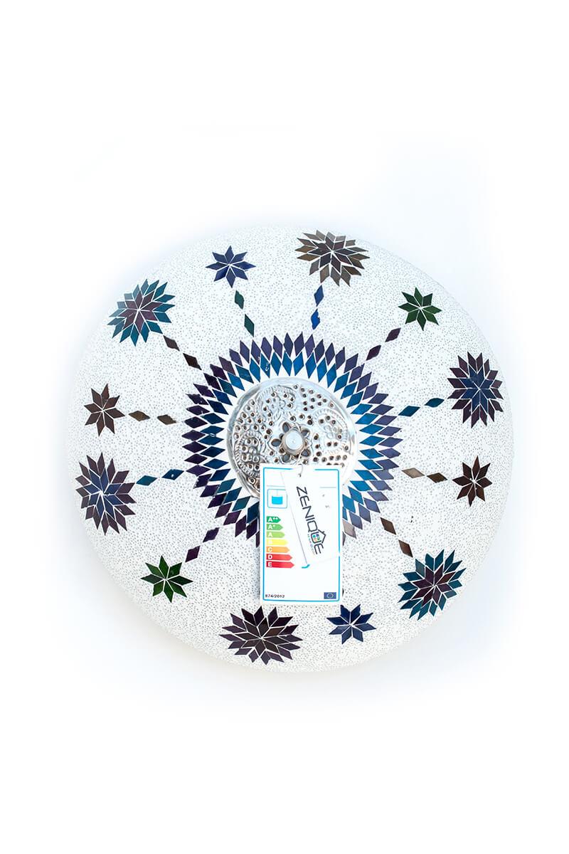 Plafondlamp mozaïek wit Maroc