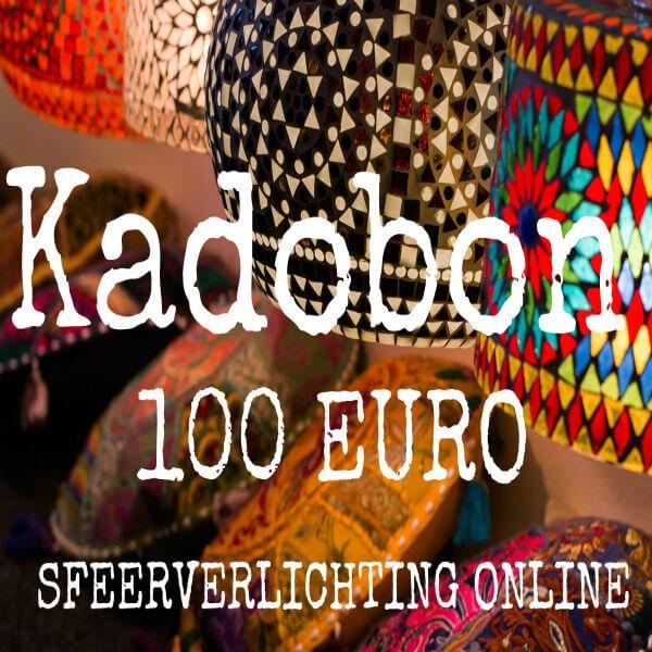 Kadobon 100 Euro van Sfeerverlichting Online. Altijd leuk om te geven !