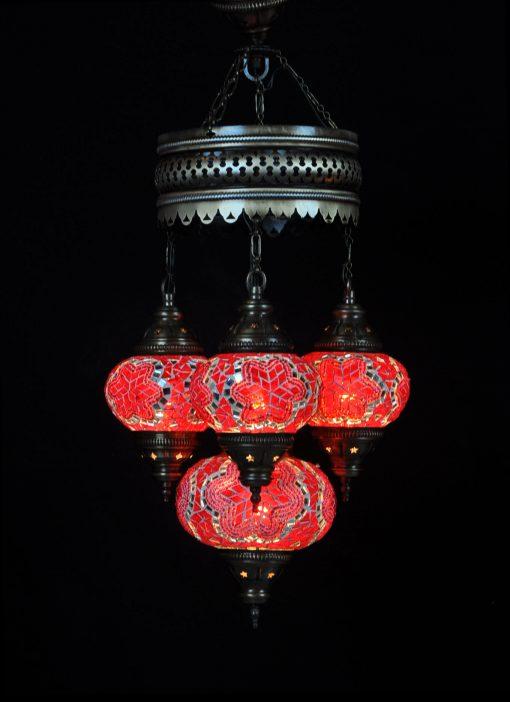 Turkse lamp rood