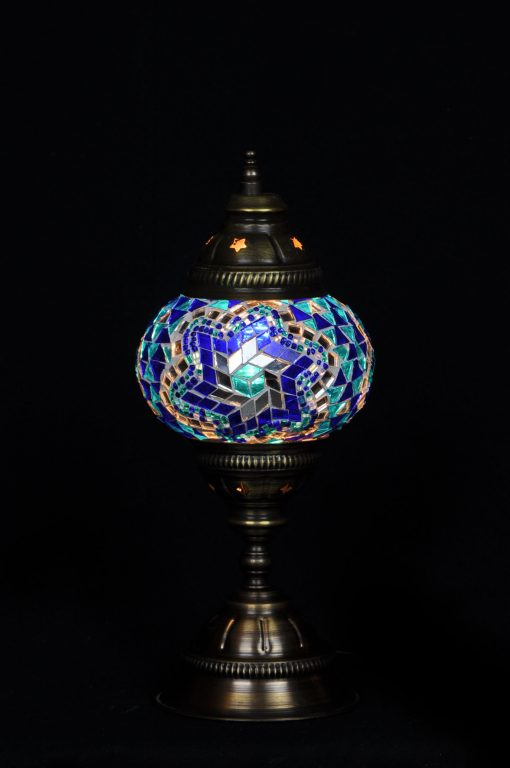 Turkse tafellamp blauw - Sfeerverlichting Online