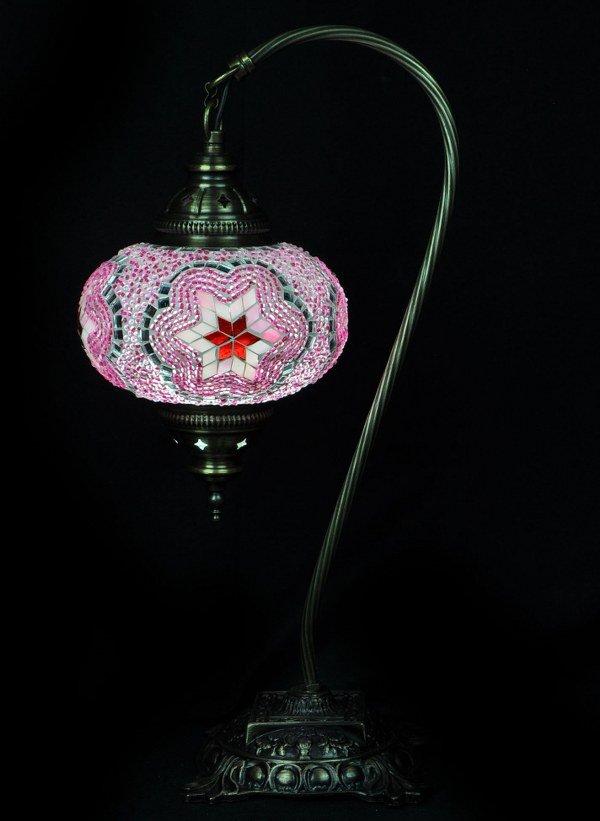 Turkse tafellamp mozaïek roze veilig online bestellen, gratis verzenden