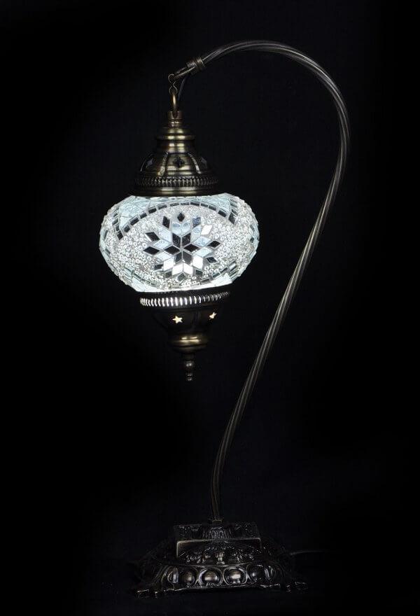Turkse tafellamp mozaïek wit veilig online bestellen, gratis verzenden