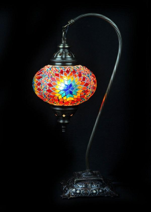 Tafellamp Turks mozaïek multicolour veilig bestellen, gratis verzenden