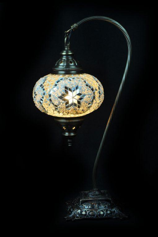 Turkse tafellamp wit - Sfeerverlichting Online