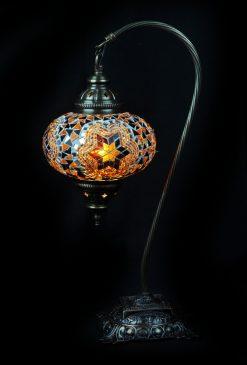 Turkse tafellamp boog bruin - Sfeerverlichting Online