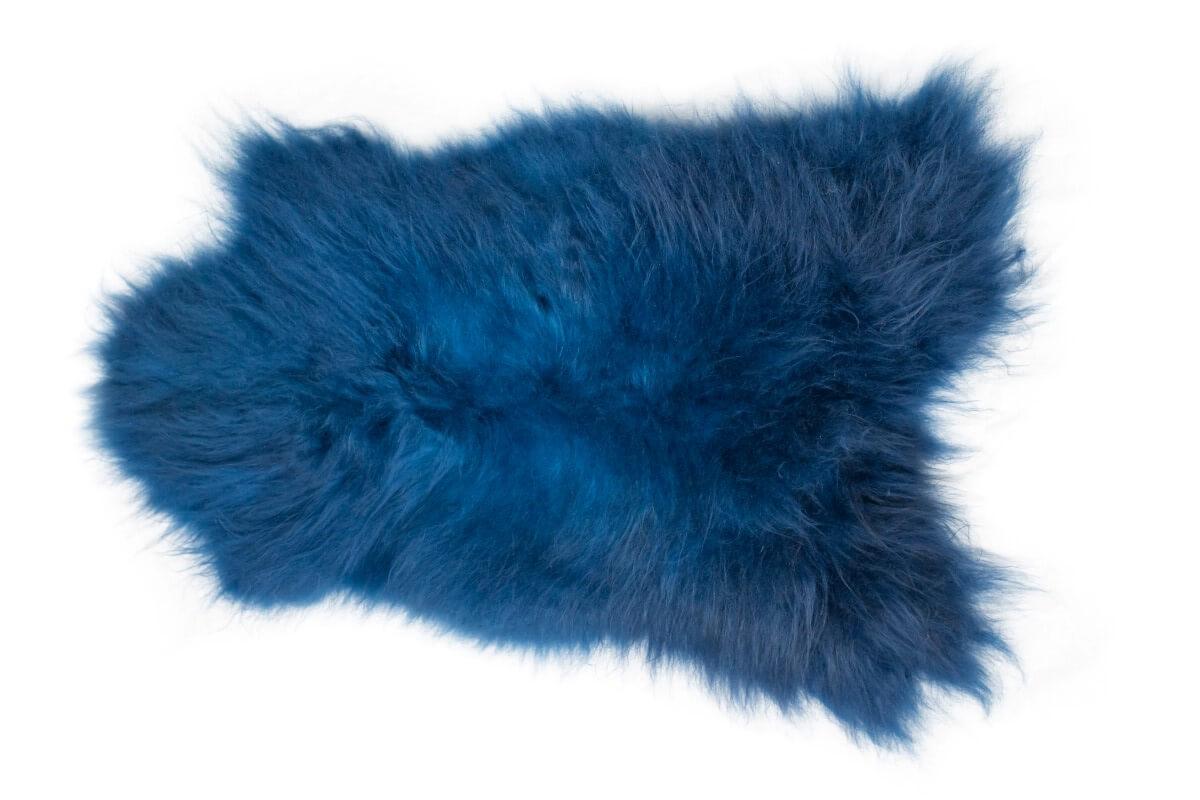IJslandse schapenvacht blauw