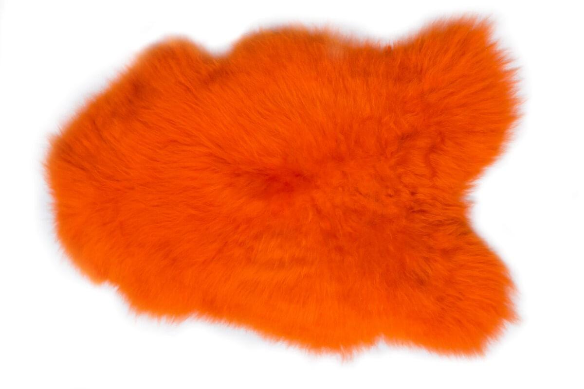 IJslandse schapenvacht oranje
