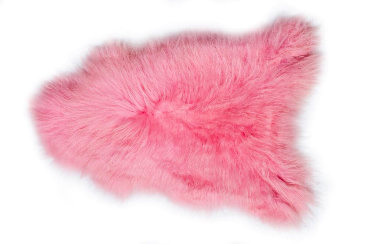 IJslandse schapenvacht roze