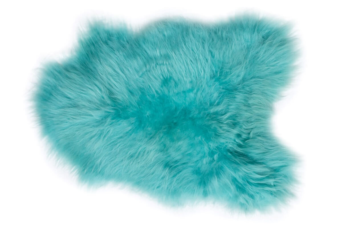 IJslandse schapenvacht turquoise