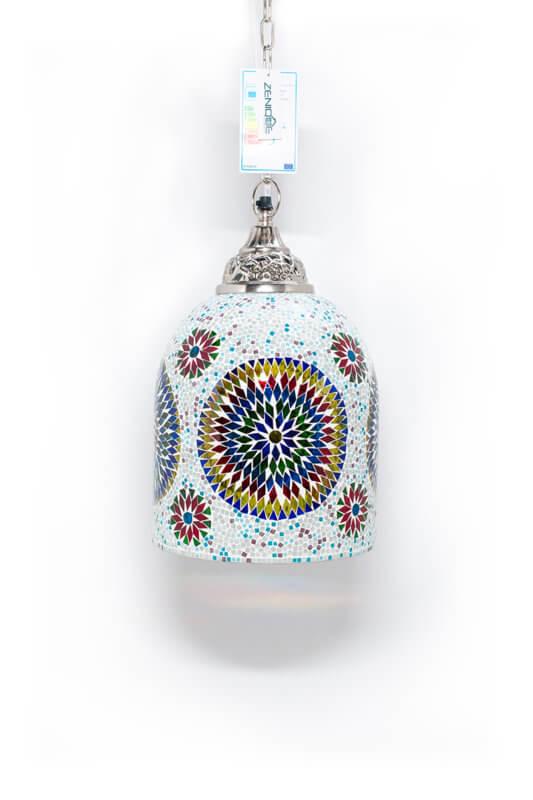 Mozaiek lamp multicolour wit Jaipur uit