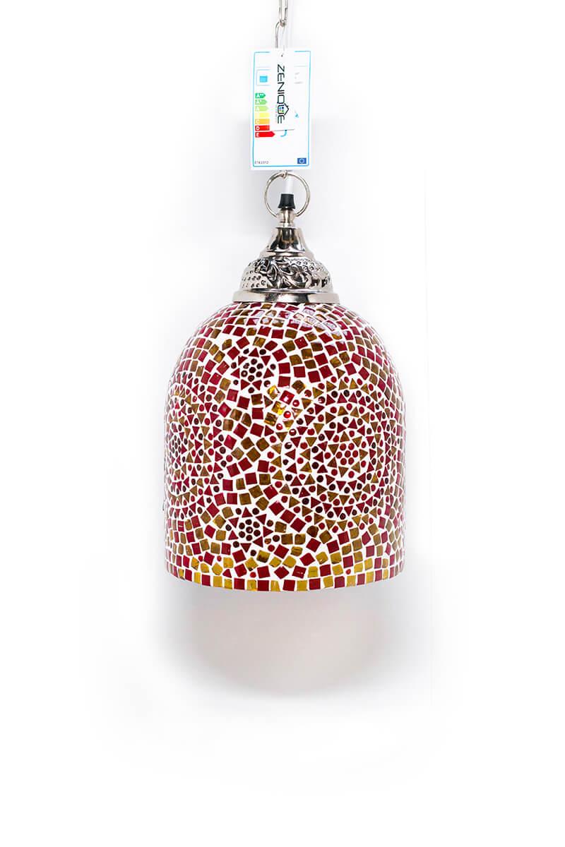 Mozaiek lamp oranje Jaipur uit