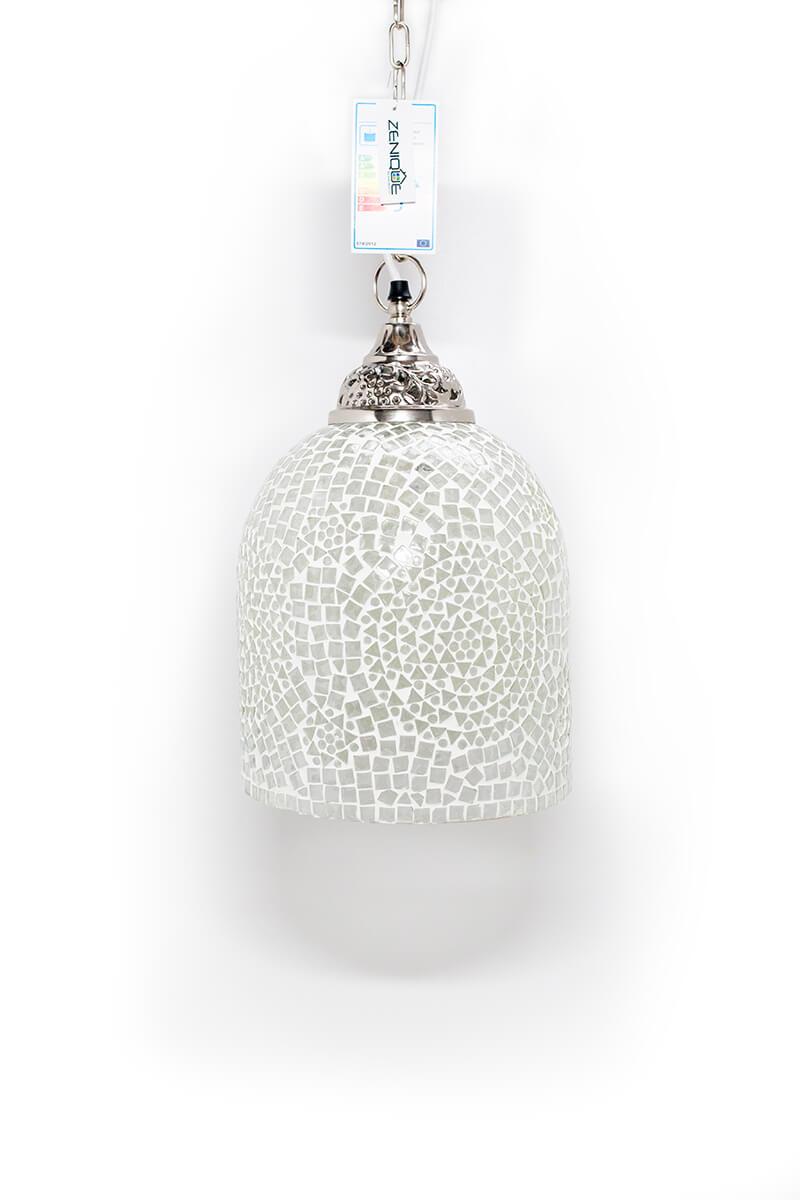 Mozaiek lamp wit Jaipur uit