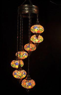 Hanglamp multicolour 7 bollen