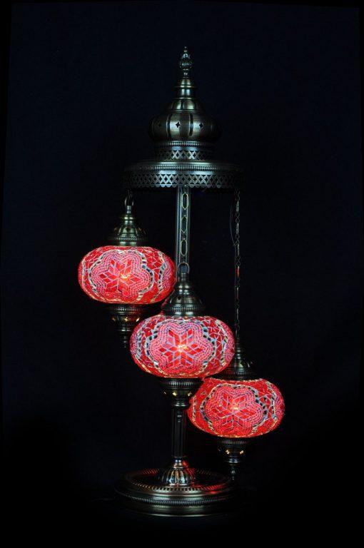 Vloerlamp mozaiek rood - Sfeerverlichting Online