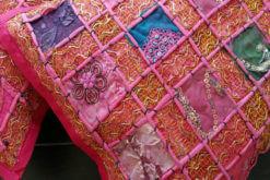 Kussen bohemian Ibiza roze detail