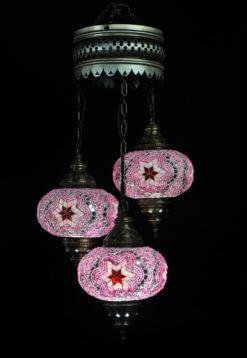 Oosterse lamp roze