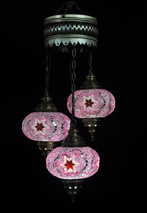 Sfeerverlichting Online - Oosterse lamp roze