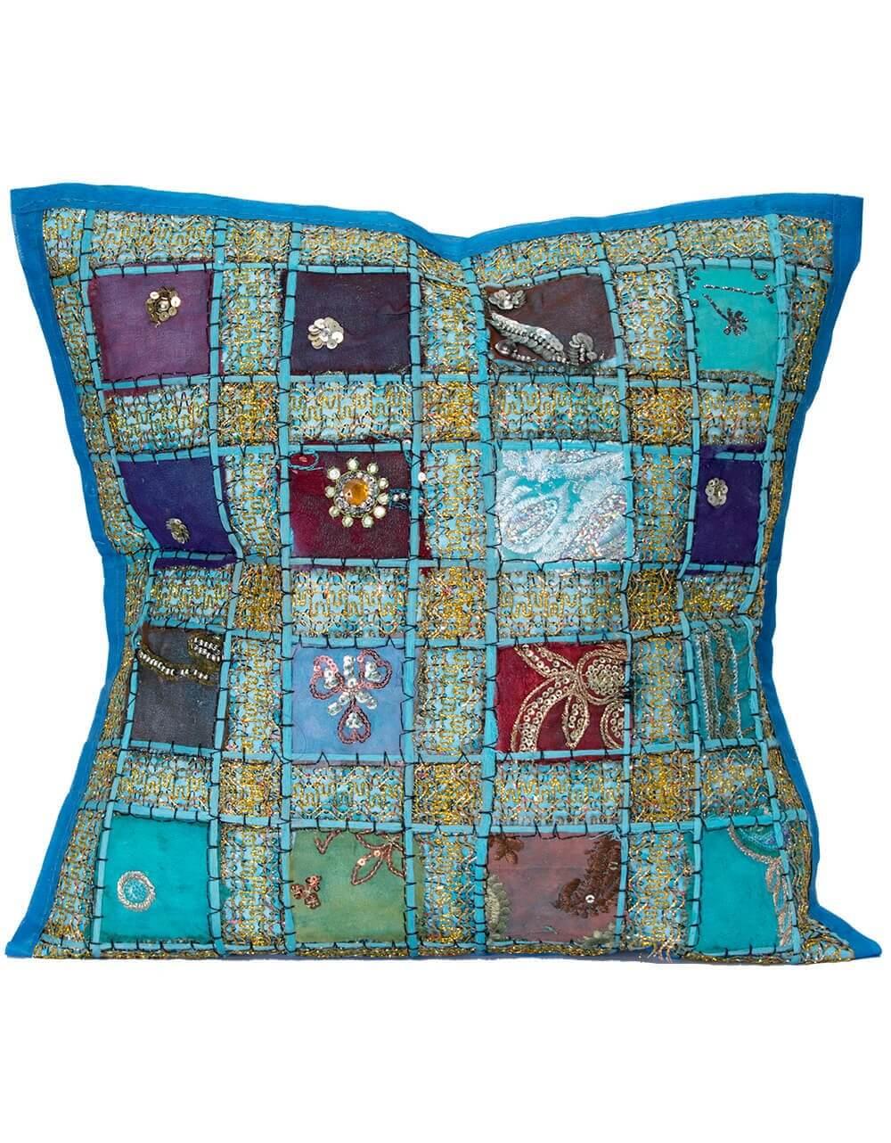 9b833bbae50 Kussen bohemian Ibiza blauw turquoise
