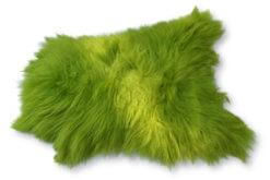Schapenvacht lime groen