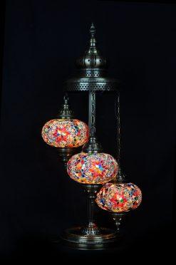 Vloerlamp 3 bollen multicolour