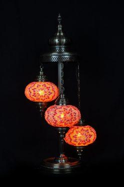 Vloerlamp mozaiek oranje - Sfeerverlichting Online