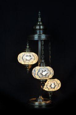 Turkse vloerlamp wit - Sfeerverlichting Online