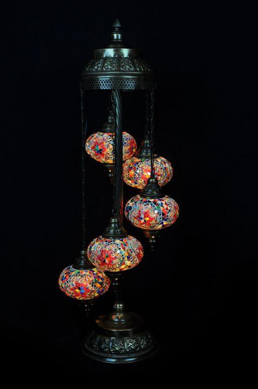 Vloerlamp 5 bollen multicolour
