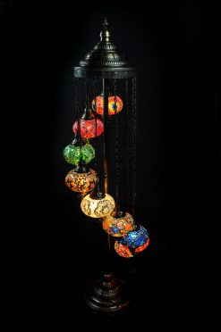Vloerlamp 9 bollen mozaïek - Sfeerverlichting Online