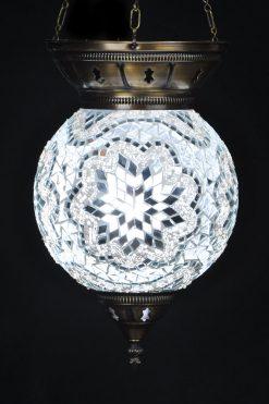 Turkse hanglamp wit rond - Sfeerverlichting Online