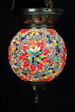 Turkse hanglamp multicolour rond - Sfeerverlichting Online