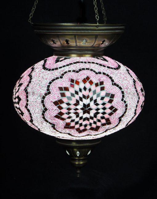 Turkse hanglamp roze ovaal - Sfeerverlichting Online