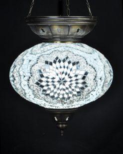 Turkse hanglamp wit ovaal - Sfeerverlichting Online