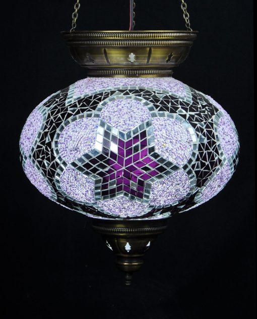 Turkse hanglamp paars ovaal - Sfeerverlichting Online