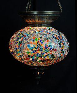 Turkse hanglamp multicolour ovaal - Sfeerverlichting Online