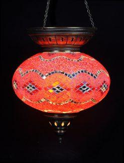 Turkse hanglamp rood ovaal - Sfeerverlichting Online